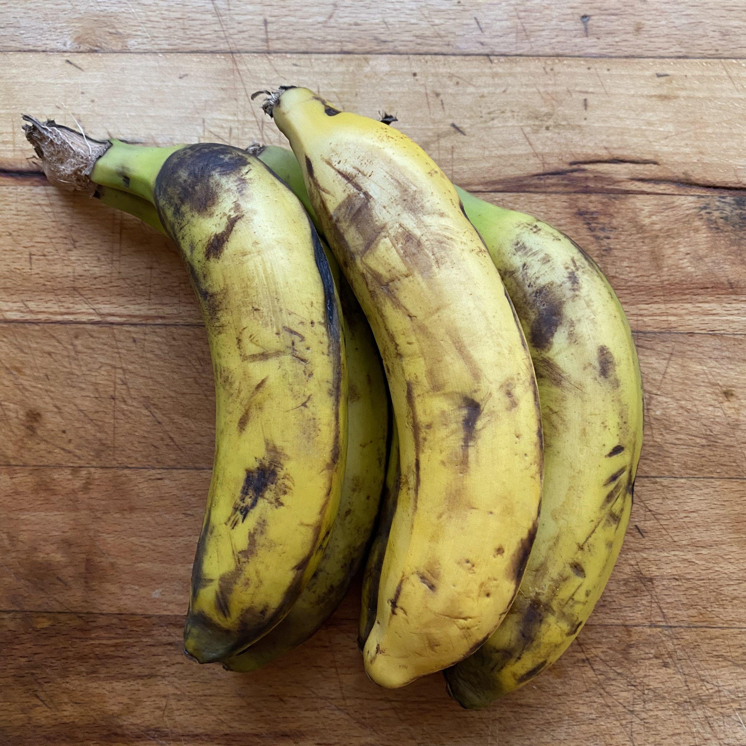 helado con plátanos