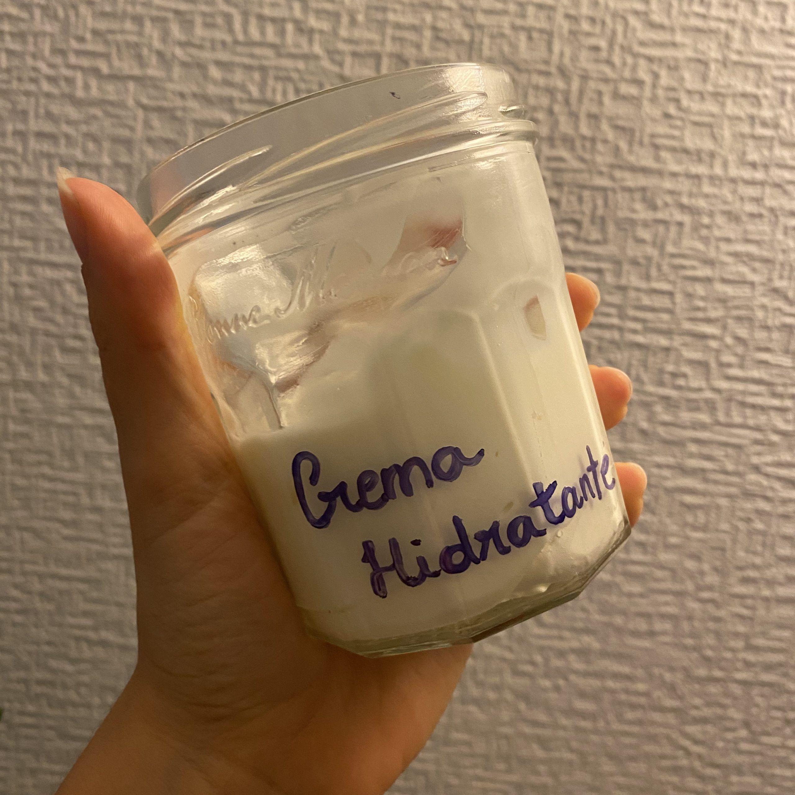 crema hidratante corporal casera